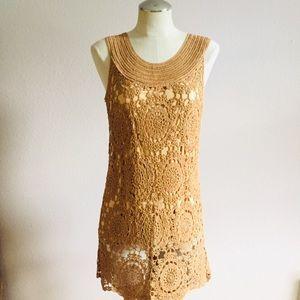 Soft Surroundings Crocheted Doily Tunic Dress